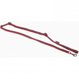 Vodítko nylon pletené s amortizérem - červené ManMat 230 cm