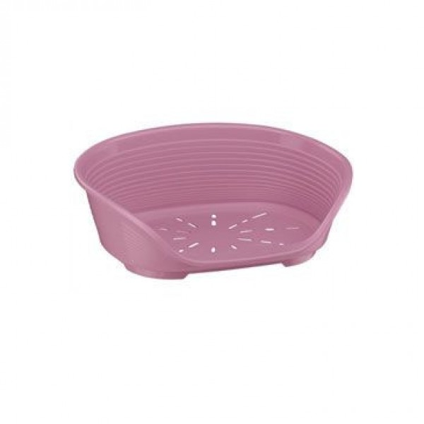 Pelech plast SIESTA DLX 6 růžový 70,5x52x23,5cm FP