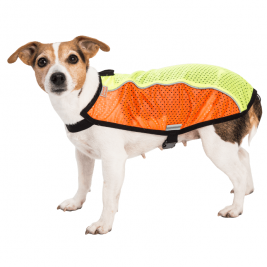 """Obleček - Vesta """"Blesk"""" oranžovo-zelená reflexní 36 cm"""
