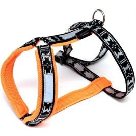 Postroj nylon Run - oranžová ManMat vel.XL - krk 53-56 cm