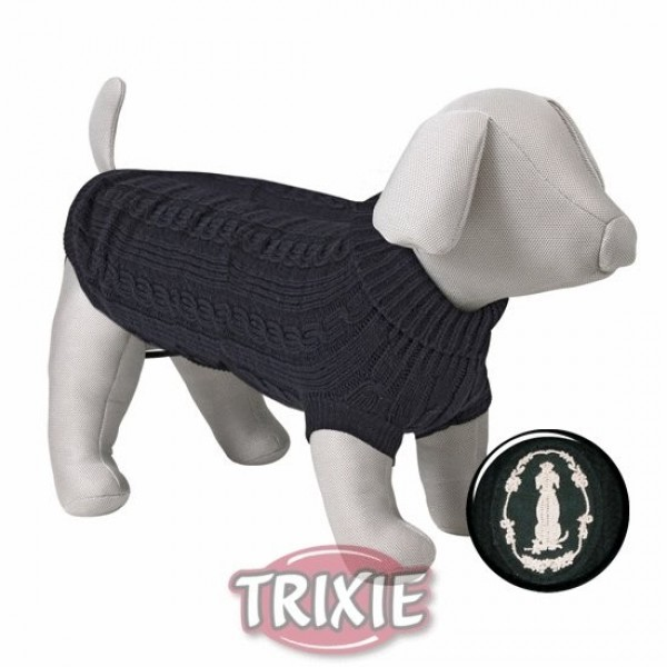 Černý svetr King of Dogs S 35 cm