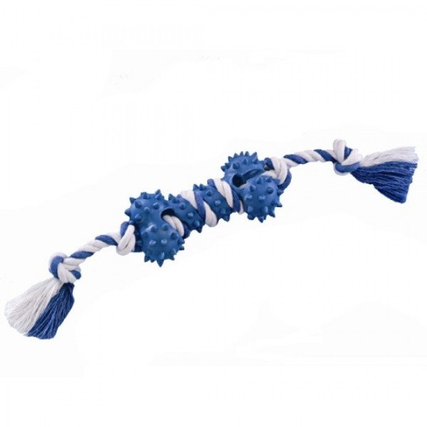 Nobby lano s gumovou kostí 10cm