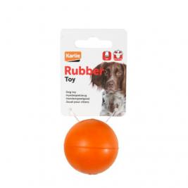 Hračka pes Míč guma 6,5cm FL 1ks