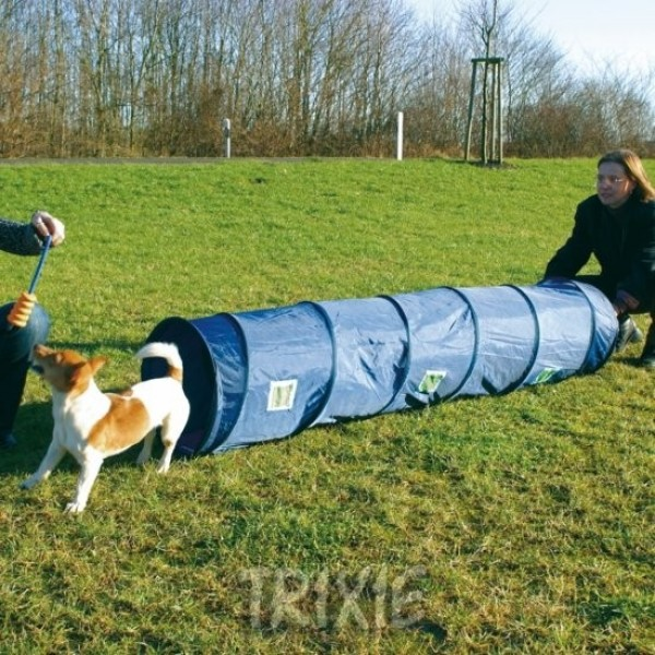 Agility tunel - malý pes, štěně, 40 cm/2 m - modrý