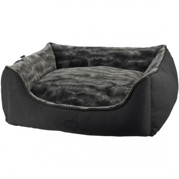 Obdelníkový pelíšek DIAN tmavě šedý 100x80x25 cm