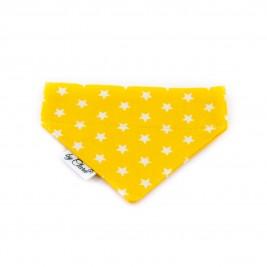 """Šátek na obojek """"Kinsale"""" žlutý vel. S"""