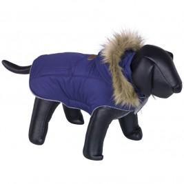 Nobby ELNA bunda pro psa s kožíškem modrá 20cm
