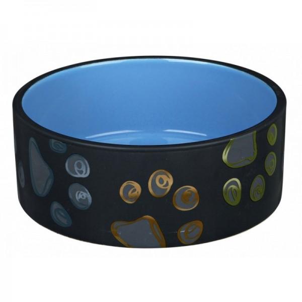 Keramická miska JIMMY tmavě šedá s packami 0,75l/15 cm