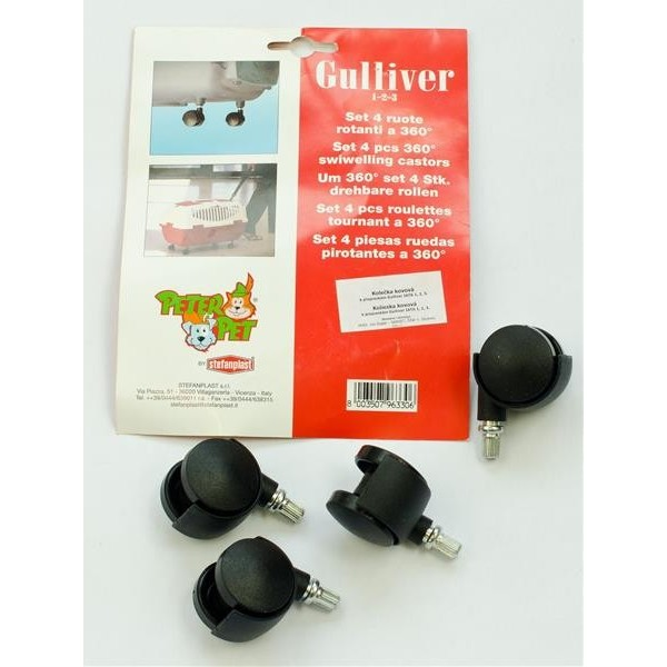 Transp. Box Gulliver - kolečka Flamingo vel. S, 4 ks