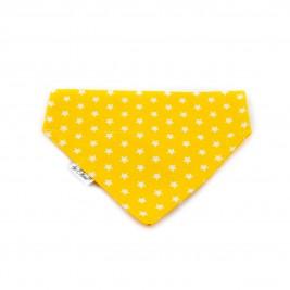 """Šátek na obojek """"Kinsale"""" žlutý vel. L"""