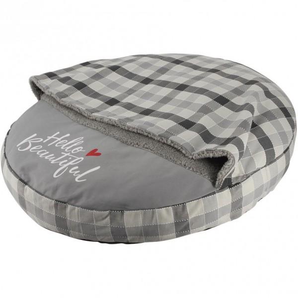 Pelíšek s přikrývkou CAMPO donut šedý 75 cm