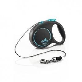 Vodítko FLEXI Black Design XS lanko 3m/8kg modrá NEW