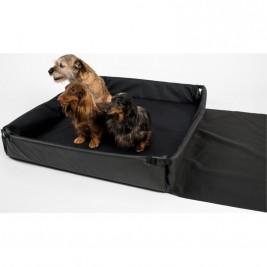 Pelech cestovní nylon do kufru Sychrov černá s potiskem 95 x 80