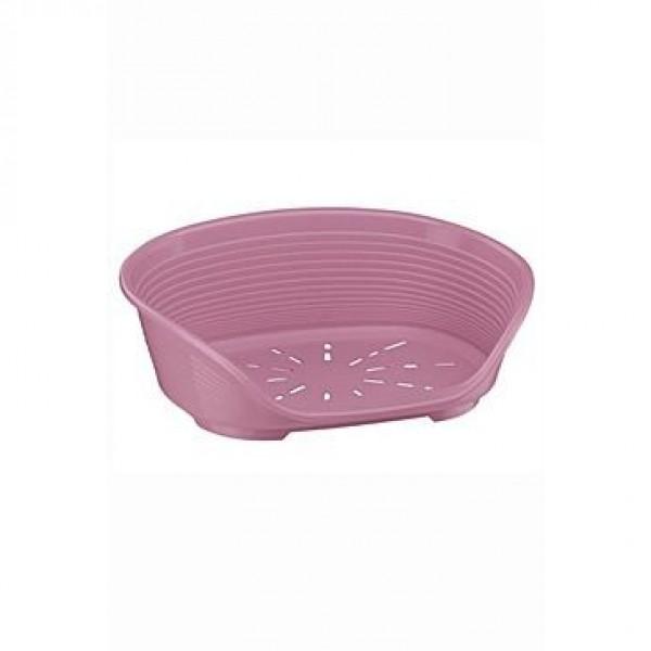 Pelech plast SIESTA DLX 4 růžový 61,5x45x21,5cm FP 1ks