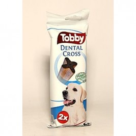TOBBY pochoutka dentální DENTAL CROSS L 100g 2ks