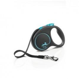 Vodítko FLEXI Black Design S pásek 5m/15kg modrá NEW