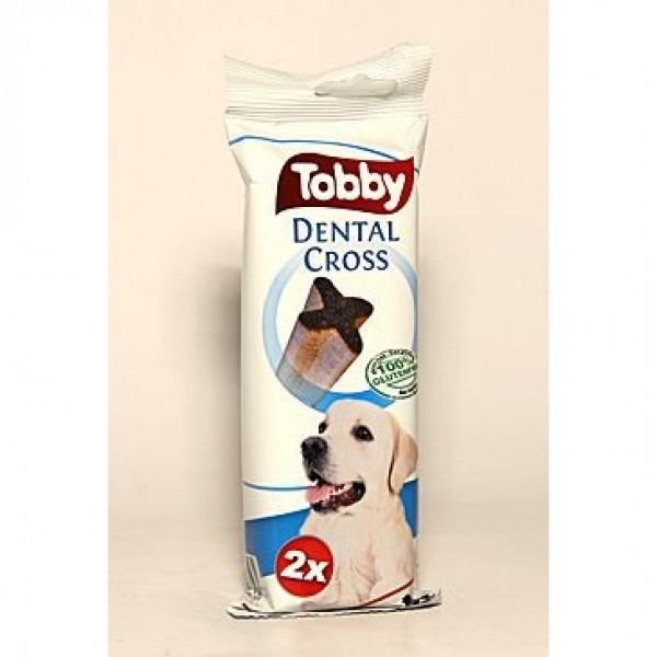 TOBBY pochoutka dentální DENTAL CROSS L 100 g 2 ks