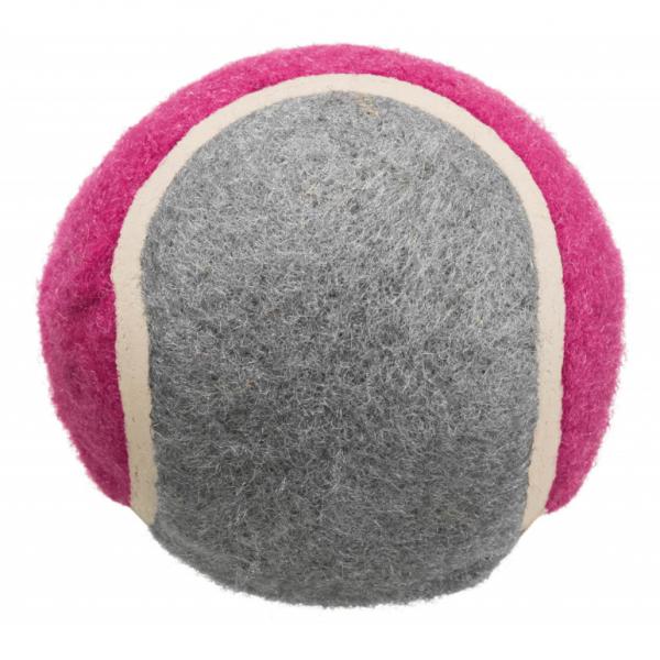Hračka pes Míč tenisový barevný  s tlapkou 6,5cm TR